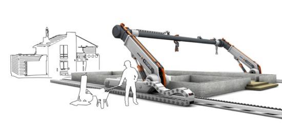 3D-принтер для печати жилых домов