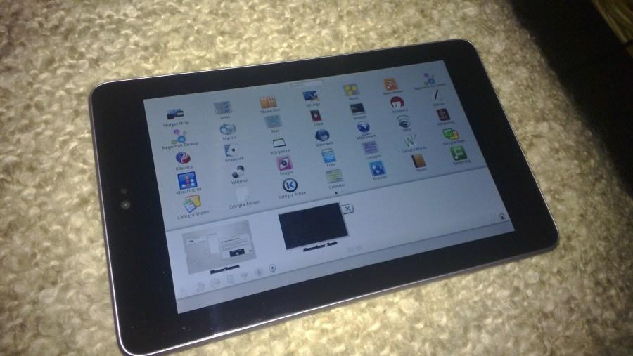 Plasma Active для Nexus 7 и мобильный графический редактор Krita Sketch