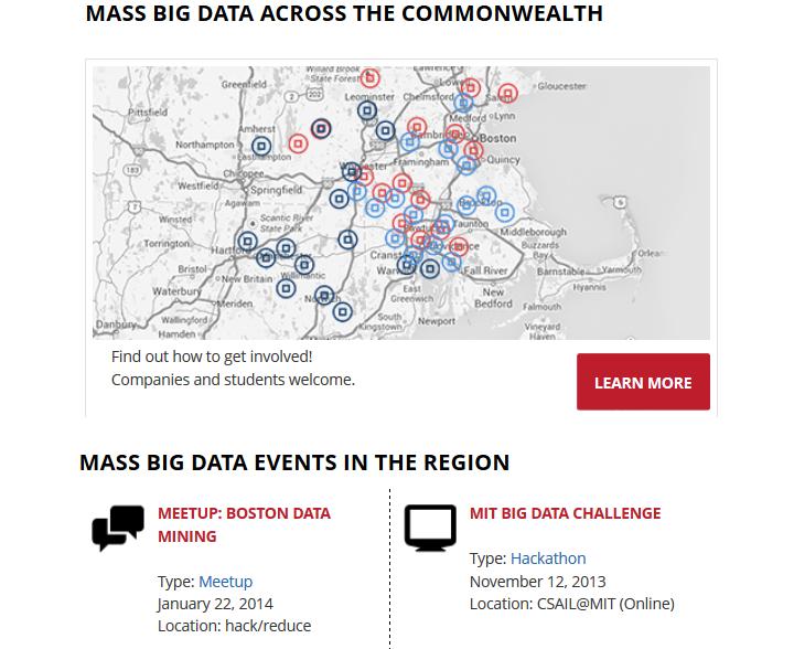 Сайт MassBigData.org штата Массачусетс