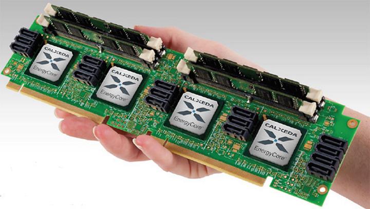 Одно из первых серверных решений на базе ARM - Calxeda EnergyCore ARM Cortex-A9 (фото: calxeda.com)