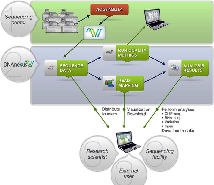 Общая схема работы с DNAnexus (изображение: i.bnet.com)