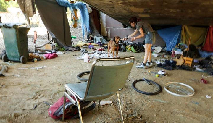 Лагерь бездомных в Сан-Хосе (фото: businessinsider.com)