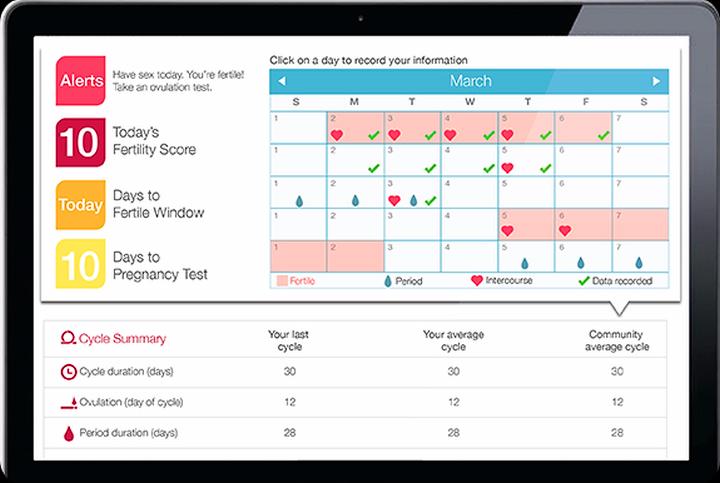 Интерфейс приложения компании Ovuline на планшете (фото: techcrunch.com)