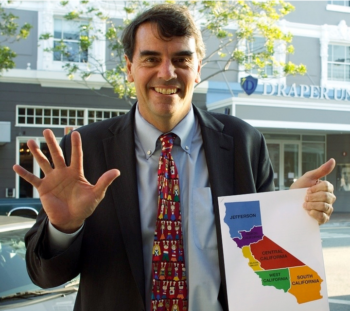 Тим Дрейпер призывает разделить Калифорнию на шесть штатов (фото: The Verge)