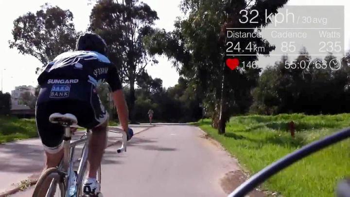 Велопрогулки с Google Glass (фото:  Omer Matityahu / YouTube).