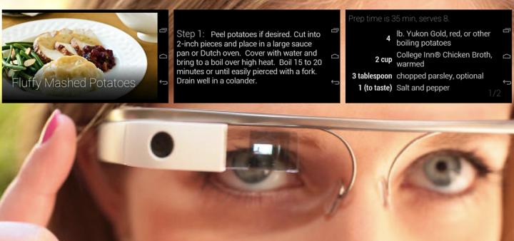 Google Glass превратят домохозяйку в виртуозного шеф-повара (хотя бы в её сознании). Фото: nativ.ly.