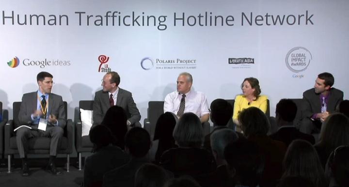Обсуждение совместной инициативы Human Trafficking Network (изображение: Google Ideas).