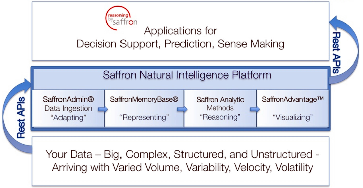 Платформа Natural Intelligence компании Saffron Technology (изображение: saffrontech.com).