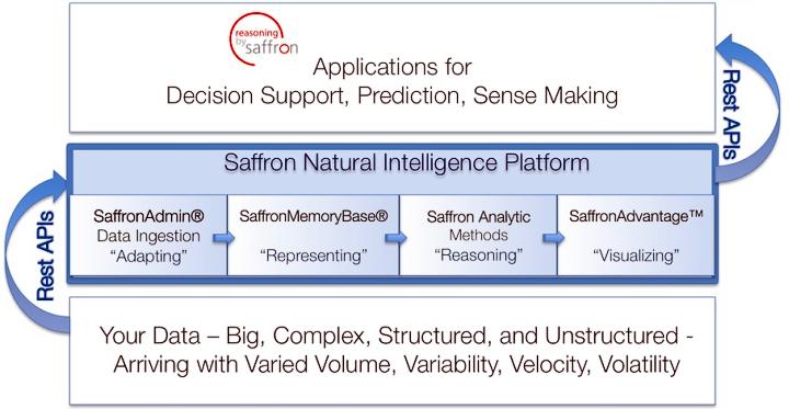 Платформа Natural Intelligence компании Saffron Technology (изображение: saffrontech.com).