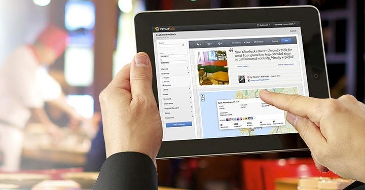 Venuelabs - бизнес под контролем с экрана планшета (фото: venuelabs.com)