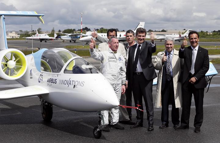 Airbus E-Fan на авиашоу в Бордо (фото: newsavia.com).