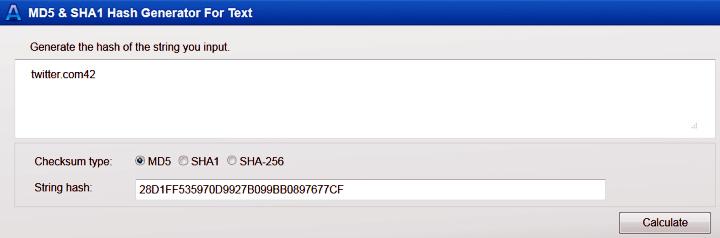 Веб-сервис для вычисления хэш-функции MD5 (скриншот сайта onlinemd5.com/).