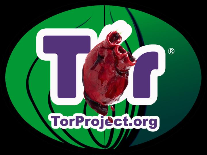 Уязвимость Heartbleed меняет отношение к Tor (коллаж по материалам laughingsquid.com и torproject.org).