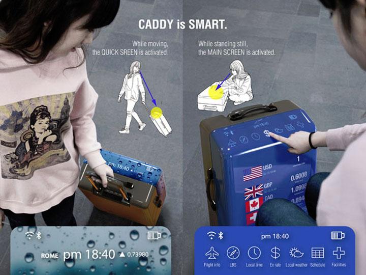 Концепты: «умный» чемодан будущего