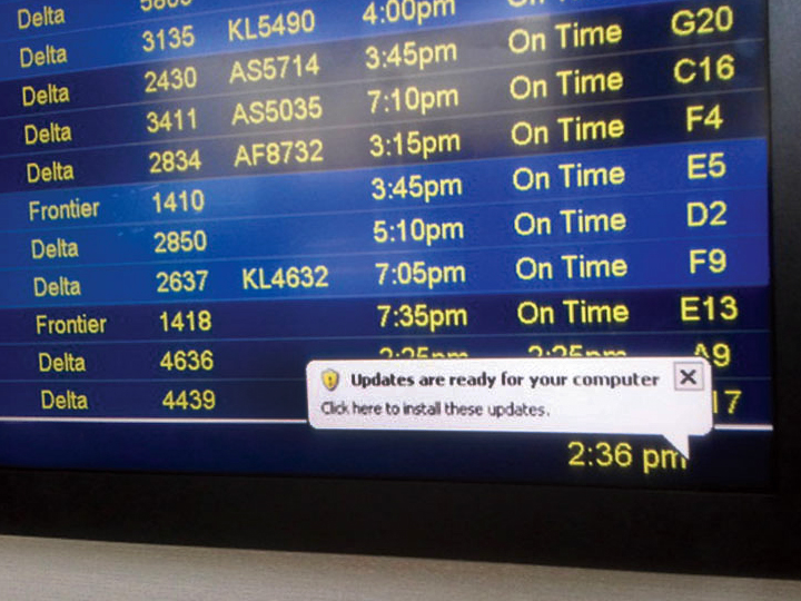 Терминал под управлением Windows XP (фото:informatiquenews.fr).
