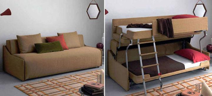 Как сделать двухъярусную кровать-диван своими руками