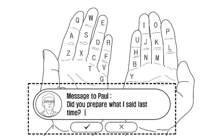 Проекционная клавиатура для очков Samsung (изображение: seoulmate.co.kr).