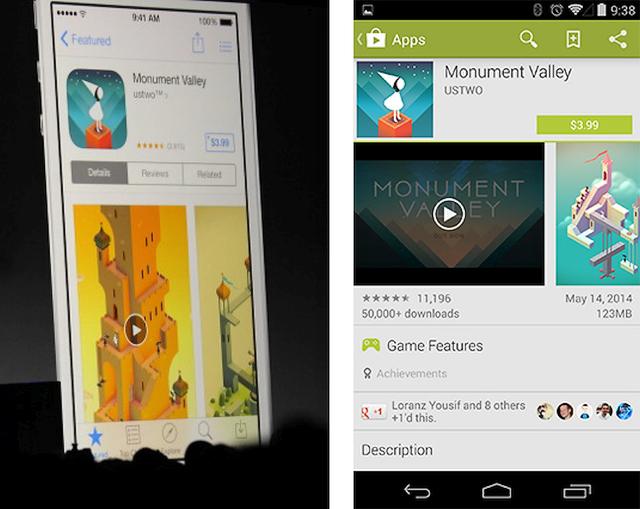 Видео в Apple App Store и Google Play (изображение: http://arstechnica.com).