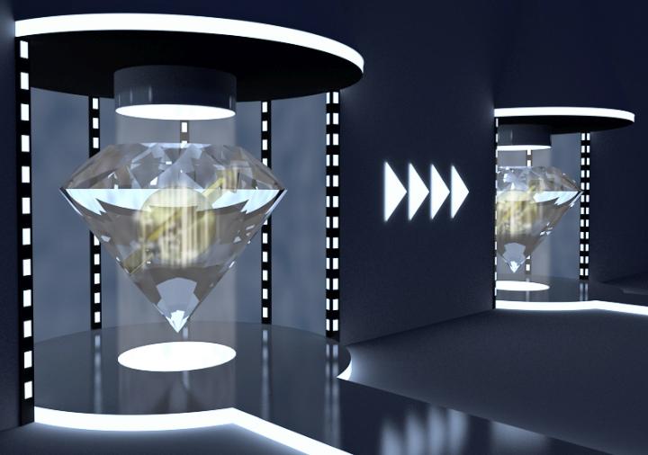Художественное представление квантовой телепортации (изображение: tudelft.nl).