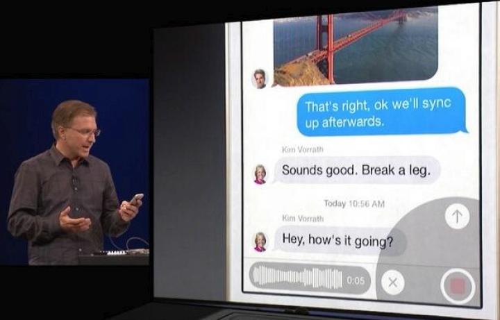 Улучшенное распознавание голоса в iOS 8 (фото: macrumors.com).