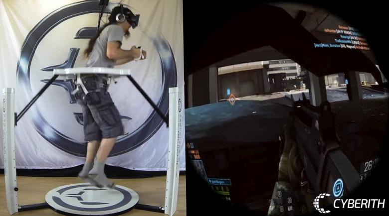 Прыжок в Cyberith Virtualizer заставит подпрыгнуть в игре (фото: gizmag.com).