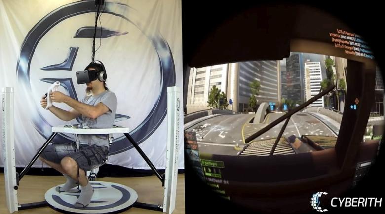 Cyberith Virtualizer - мгновенное перемещение за руль виртуального автомобиля (фото: gizmag.com).