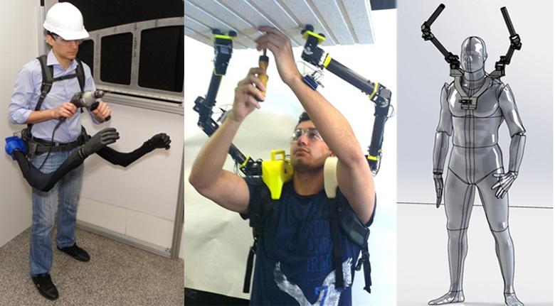 MIT: варианты крепления и применения роботизированных рук (коллаж по материалам darbelofflab.mit.edu)