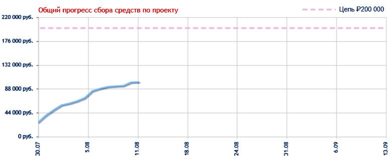 Состояние финансирования проекта Gransjoy.com (изображение: crowdsourcing.ru).