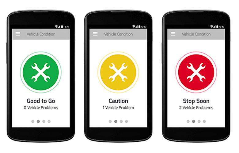 Мобильное приложение FIXD - главный экран (изображение: mashable.com).
