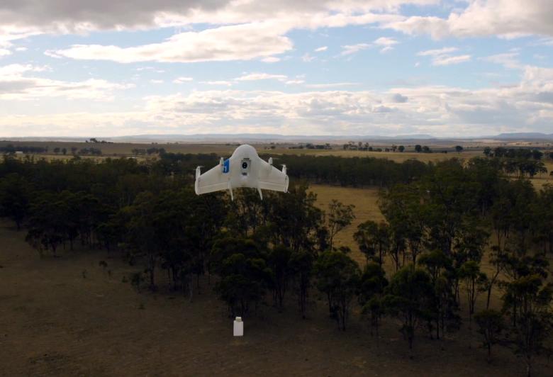 Испытания Google Wing в Австралии (фото: google.com).