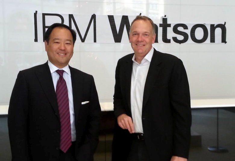 Вице-президенты IBM Майк Родин и Стивен Коули во время визита в Astor Place, новый дом для Watson (фото: Mike Rhodin).