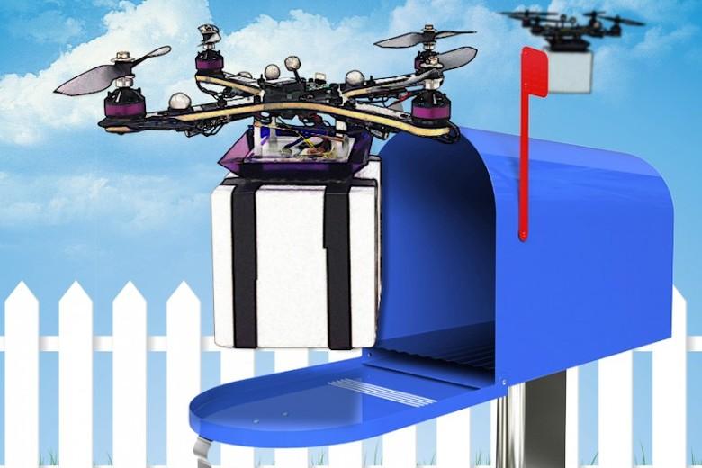 Разработанный в MIT алгоритм приближает начало курьерской доставки дронами (изображение: Christine Daniloff/MIT).
