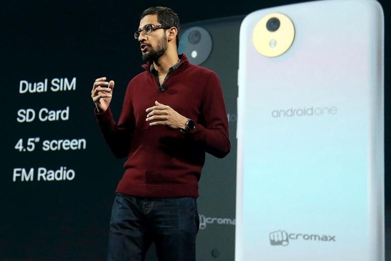 Кадр с презентации первых смартфонов на платформе Android One (фото: igyaan.in).