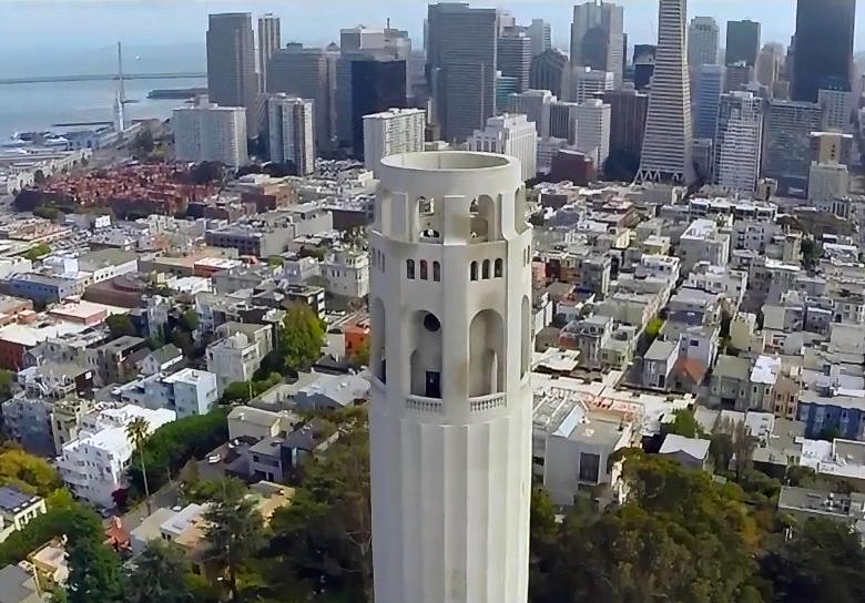 Взгляд на город с высоты дроньего полёта (фото: 3drobotics.com).