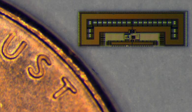 Фрагмент предыдущего изображения чипа, увеличенный в 55 раз (фото: Amin Arbabian / Stanford University).