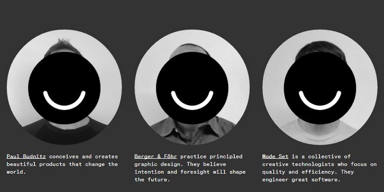 Странное понятие о приватности сооснователей Ello (скриншот ello.co).