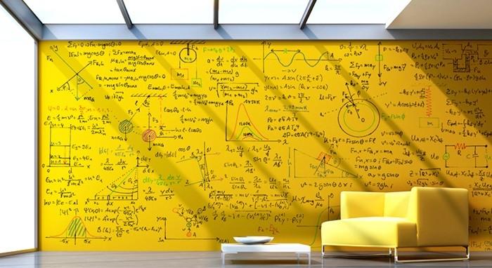 Кто занимается подобной ерундой? Ну, к примеру, Марк Кубан, сделавший миллиарды во время первого бума дот-комов. Здесь: стена, превращённая в поверхность для рисования при помощи специальной краски компании WhiteyBoard, основанной Марком.