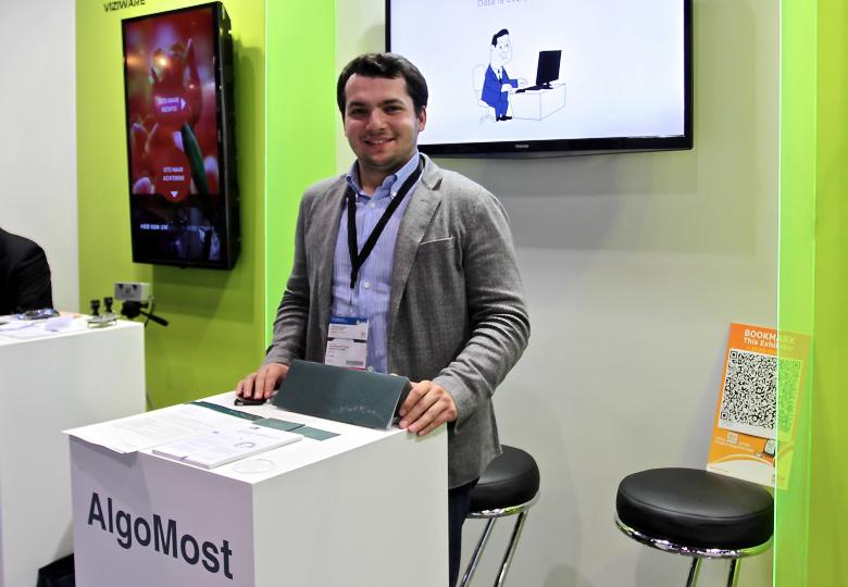 Генеральный директор компании «АлгоМост» Михаил Левиев на конференции ICT Expo-2014 в Гонконге (фото: sk.ru).