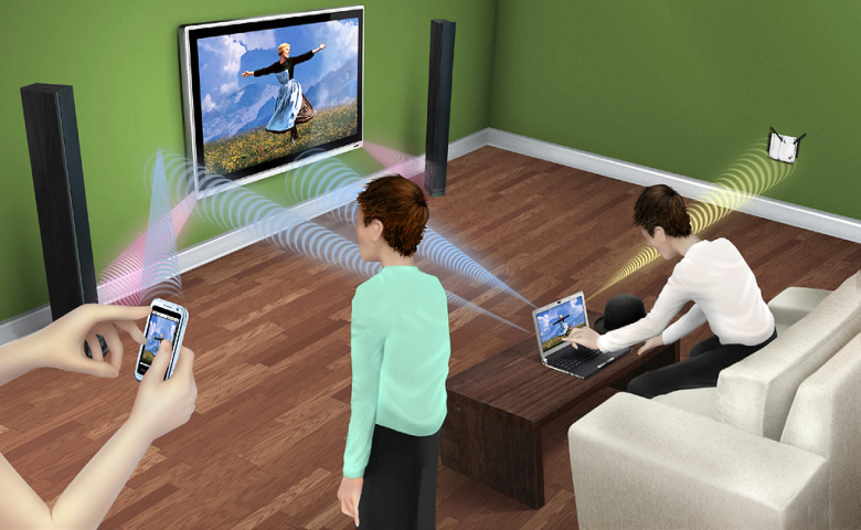 Beamforming позволяет сфокусировать сигнал в каждый момент времени (изображение: extremetech.com).