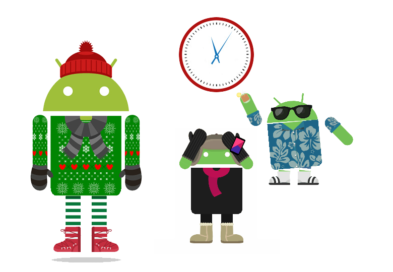 """""""Мы так любим лето, что не успели подготовиться к встрече с темной, холодной, снежной русской зимой и не перевели время на часах Android-устройств"""". Команда Android."""
