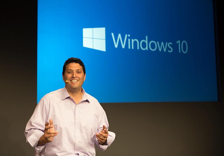 Терри Мейерсон на презентации Windows 10 (фото: microsoft.com).