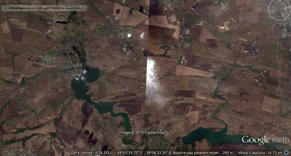 Тот же район в Google Earth на сентябрь 2011 года.