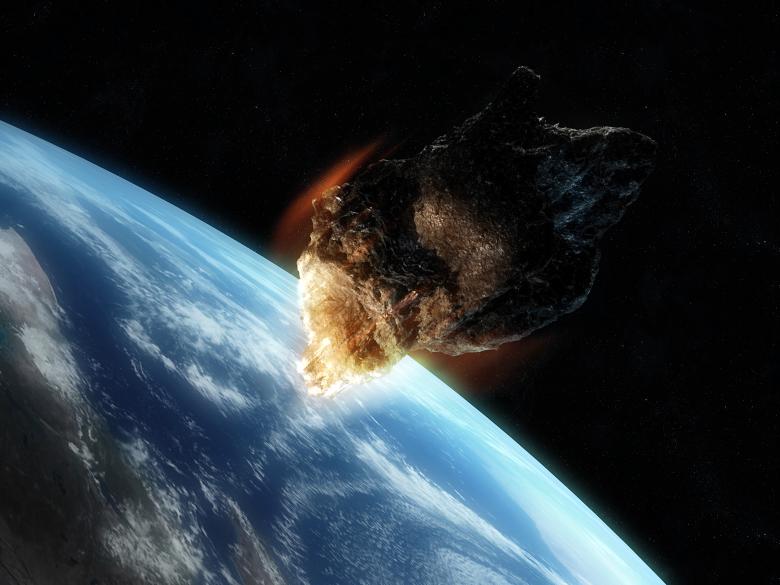 Rappresentazione artistica di un asteroide vicino alla Terra (Foto: hemi.jhu.edu).