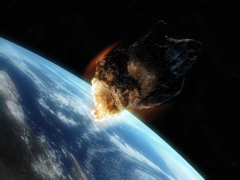 Художественное представление околоземного астероида (изображение: hemi.jhu.edu).
