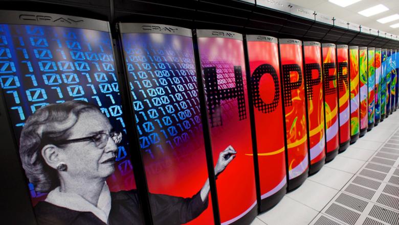 Суперкомпьютер Cray XE6 вычислительного центра NERSC. Имя Hopper он получил в честь Грейс Хоппер - математика, программиста и автора первого в мире компилятора (фото: nersc.gov).