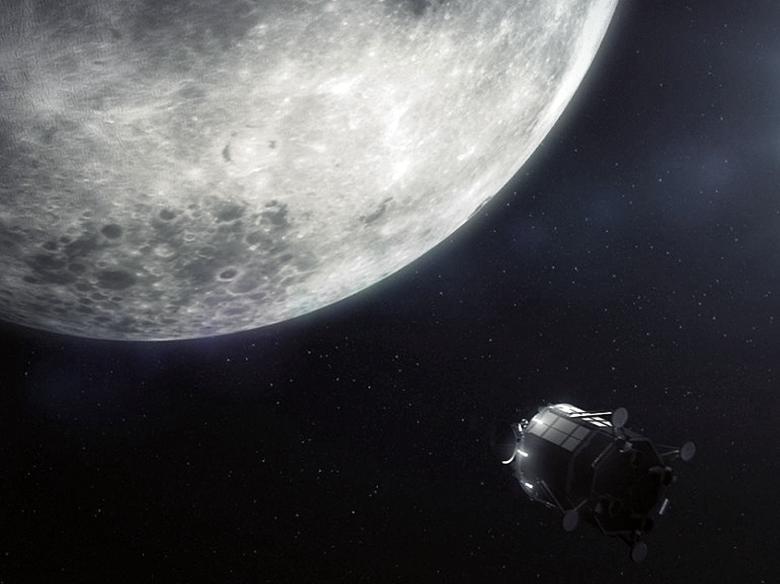 """Зонд Lunar Mission One отправит на Луну """"капсулу времени"""" (изображение: lunarmissionone.com)."""
