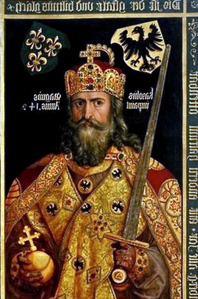 Император Запада Карл I Великий был неграмотен.