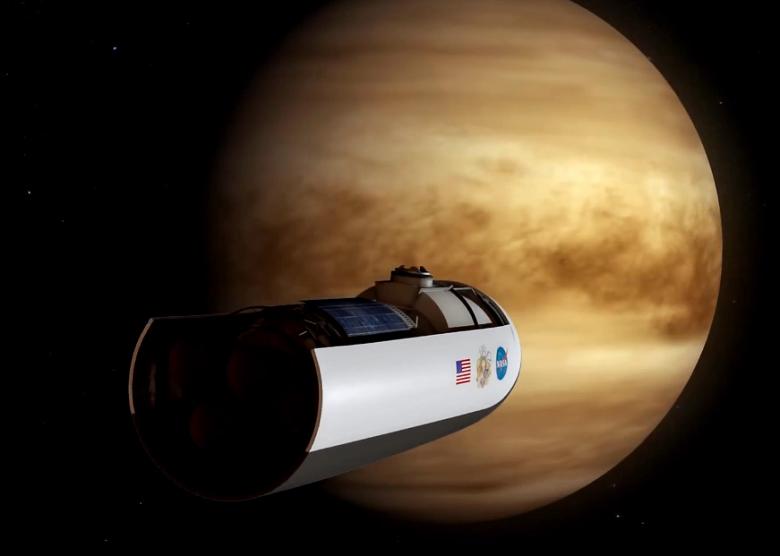 Графическое представление миссии HAVOC (High Altitude Venus Operational Concept). Изображение: NASA Langley Research Center.