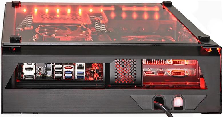 """Lian Li PC-O5 можно установить как десктоп, тонкую """"башню"""" или повесить на стену."""